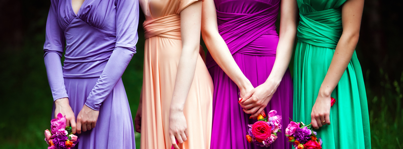 Bridesmaid duties before and after the wedding!