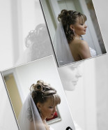 Wedding Hairstyle Y20 – Sophia Half Up, Vintage Romantic Look