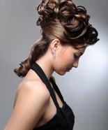 Wedding Hairstyle Y31 – Izabella option 1 Half Up, Vintage Romantic Look