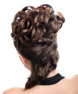 Wedding Hairstyle Y30 – Izabella option 2 Half Up, Vintage Romantic Look