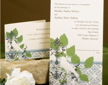 Wedding Invitations Design No. 17