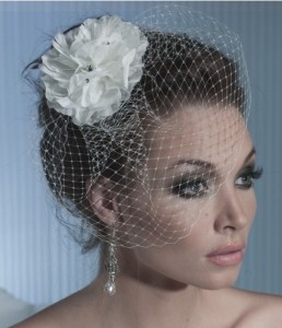 our Toronto bridal consultant may recommend a short veil.