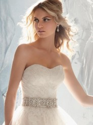 Beaded Satin Sash Style 11032