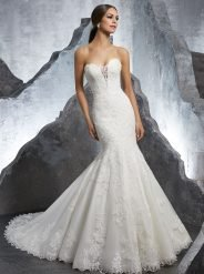 Mori Lee Style No. 5607 Romantic Frosted, Alençon Lace dress